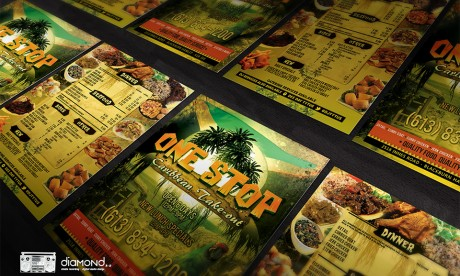 Caribbean Restaurant Flyer Template Printed